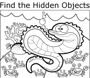 Picture Of Hidden Object For Coloring | New Calendar Template Site