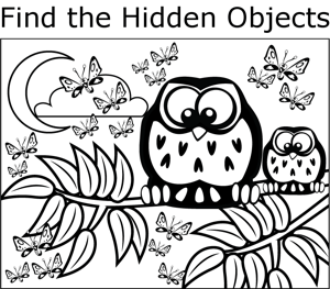 Find The Hidden Objects Printables