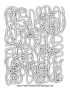 Recovery Hidden Word Coloring Page