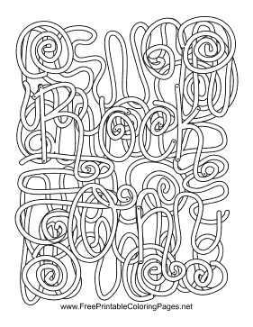 rock and roll coloring pages - photo#28