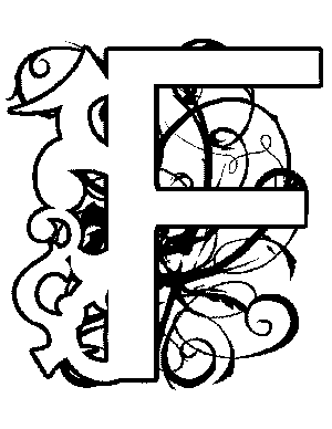 Medieval illuminated letters alphabet for Illuminated alphabet coloring pages