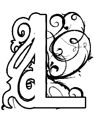 illuminated alphabet templates - illuminated letters coloring pages coloring pages