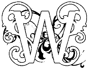 Illuminated Letters W Free coloring pages of illuminated letter a