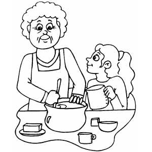 coloring pages of baking - photo#39