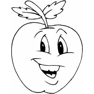 happy apple coloring pages - photo#1