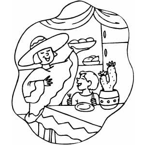 Mexican Food Coloring Pages Coloring Pages Mexican Food Coloring Pages