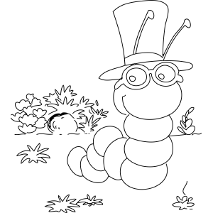 coloring pages of inchworm - photo#3