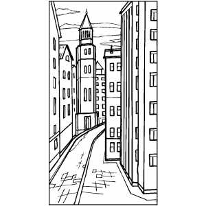 city street coloring pages - photo#7