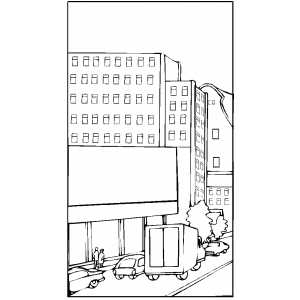 city street coloring pages - photo#11