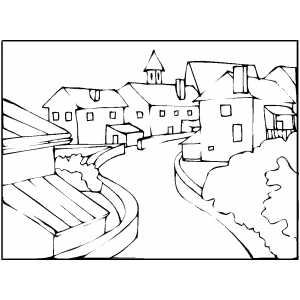 coloring pages street - photo#7