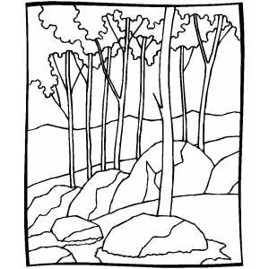 Printable deciduous pictures anal sex movies for Forest coloring pages printable