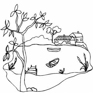 lake coloring pages - photo #21