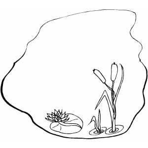 pond coloring pages | Pond Coloring Page