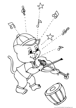 fiddle coloring pages - photo#28