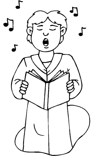 choral singing coloring pages - photo#20