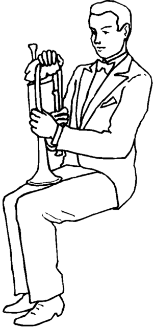Trumpet Player coloring page