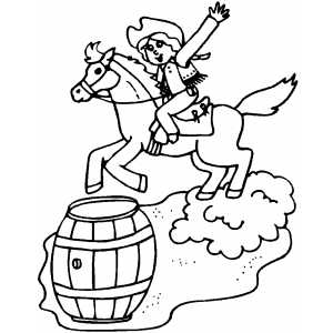 barrel racing coloring pages - photo#9