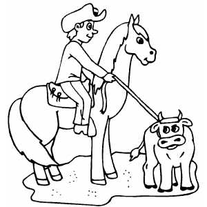 Team Roping Coloring Pages Printable