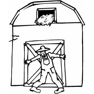 barn dance coloring pages - photo#21