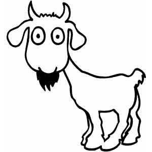 Little Goat coloring page