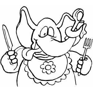 Hungry Elephant coloring page