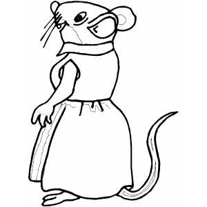 mouse people coloring pages - photo#33