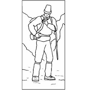 mountain climber coloring pages - photo#13