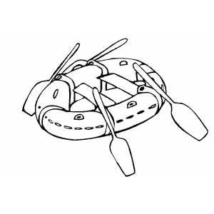 Airplane Coloring Sheets on Raft Ready To Swim Coloring Page
