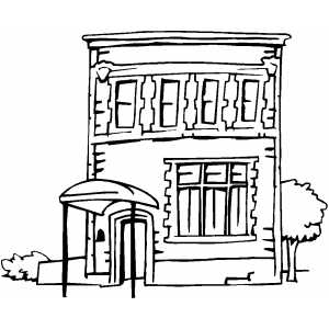 free coloring pages of buildings | Apartment Building Coloring Page