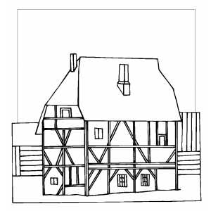 cottage coloring pages - photo#30