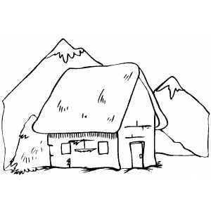 cottage coloring pages - photo#26
