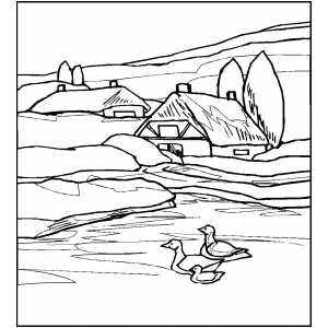 Pin river coloring page on pinterest