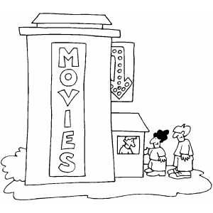 movie theater coloring pages - photo#1