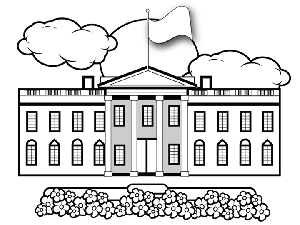 Whitehouse Coloring Page White House Coloring Page