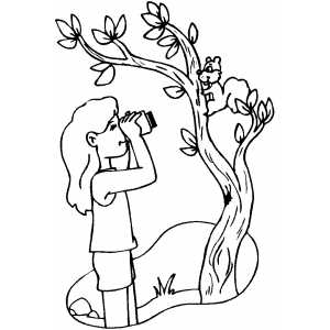 bird watching coloring pages - photo#4