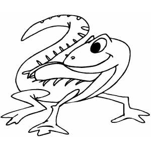 Lizard Kid Coloring Page