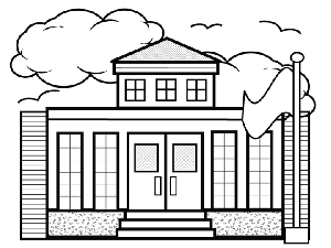 school building coloring pages - photo#16