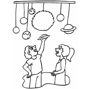 Space Museum Coloring Page At The Museum Coloring Pages