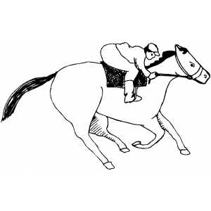horses racing colouring pages page 3