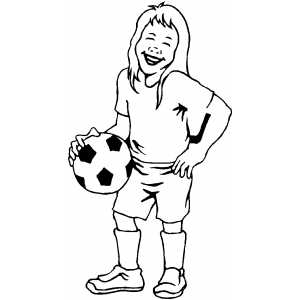 free coloring sheets on soccer girl player coloring page - Girl Soccer Player Coloring Pages