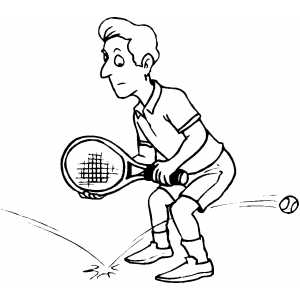 Tennis Missing Strike coloring page