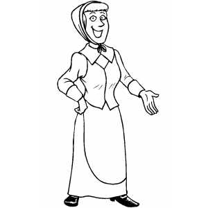 Piligrim woman coloring page for Woman coloring page