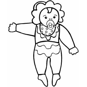 Pointing Doll coloring page