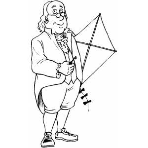 USA-Printables: Benjamin Franklin Coloring Pages - Famous ...
