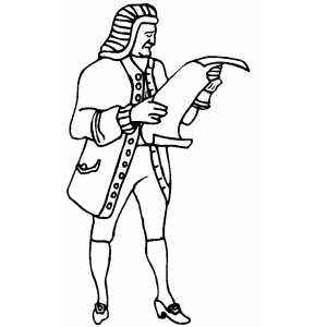 Colonial man coloring coloring pages for Colonial coloring pages