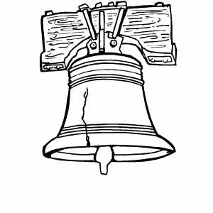 Liberty bell coloring page for Us history coloring pages