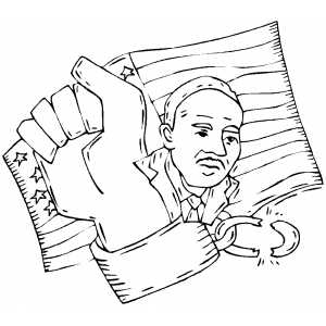 Photo archive martin luther king coloring for Martin luther king jr coloring pages to print
