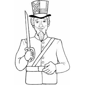 Uncle Sam Coloring Page Uncle Sam With ...