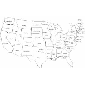 Map Of United States Of America For Kids On Printable Usa Labeled To Color