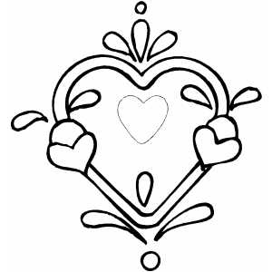 Valentines  Heart Coloring Pages on Heart Designs Coloring Pages   Hawaii Dermatology